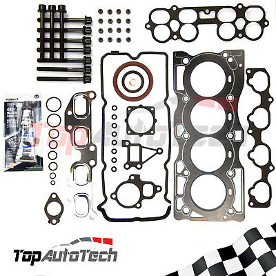 VRS Head Gasket kit Head Bolts+Silicone for Nissan X-Trail XTrail T30 2.5 QR25DE
