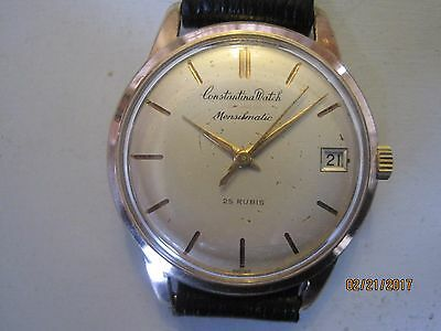 60's Vintage Elegant Constantina Rose Gold Plated Swiss Automatic Gent's Watch.