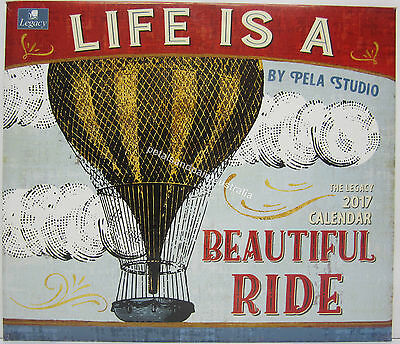 2017 Legacy Wall Calendar Life Beautiful Ride by Pela Studio Fits Timber Frame