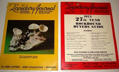 Lapidary Journal For Gem Cutters Collectors Jewelers 2 Issues 1973