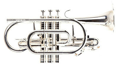 Geneva Symphony Bb Professional Cornet, Silver, With Case and Mouthpiece