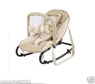 Fashion Security Beige Comfortable Baby Swing Chair/Baby Rocking Chair JY