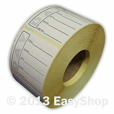 50 X 50 mm Black Date Marking Day Dot Food Rotation and Hygiene Label 500 Roll