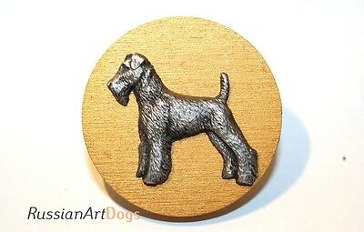 Airedale terrier dog - Show Ring Clip, Ring Number Holder