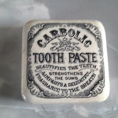 carbolic tooth paste pot lid