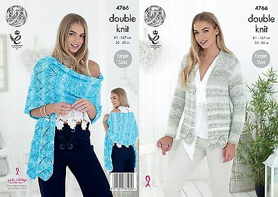 KINGCOLE 4766 Ladies DK KNITTING PATTERN 32-50IN -not the finished garments