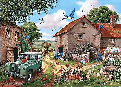 The House Of Puzzles - 500 BIG PIECE JIGSAW PUZZLE - Farmer's Wife Big Pieces