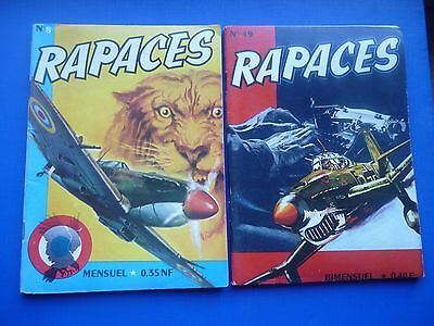 Editions IMPERIA  :   RAPACES  N° 8 & 49   -   TBE