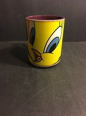 Gibson Warner Bros. Looney Tunes Tweety Bird Purple Coffee Mug Cup 1998