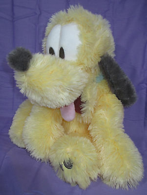 "LONG PILE BABY PLUTO with tags DISNEY AUTHENTIC ORIGINAL DISNEY PARKS 14"" long"