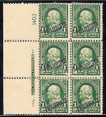 Philippines #213 Plate #1403 With Imprint F-Vf Tropical Gum Cv $225 Bt5774