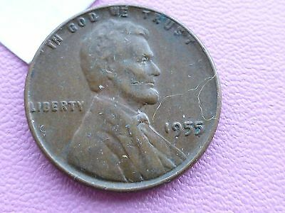 United States one cent coin 1955 A   filler