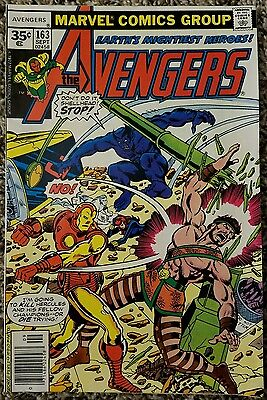 The Avengers 163 35 Cent Variant September 1977 Marvel Comics Group High Grade