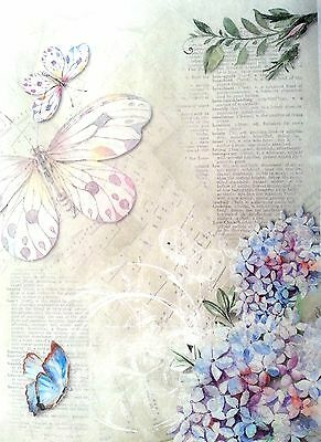 Rice Paper for Decoupage Decopatch Scrapbooking Sheet  Vintage Butterfly 1