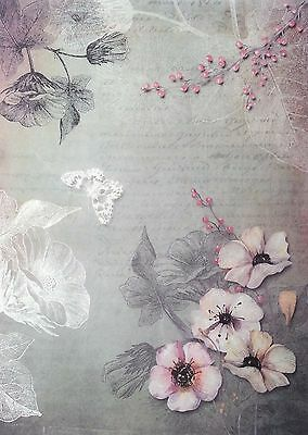Rice Paper for Decoupage Decopatch Scrapbooking Sheet  Vintage Flowers Magic