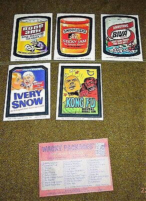 70s WACKY PACKAGES STICKER LOT SMOOCHERS ivery snow BONE AMI biva KONG FU
