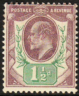 SG 221 1 1/2d Dull Purple & Green M8(1) in generally fine and fresh mounted mint