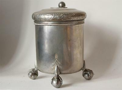 Large Pewter Scandinavian Beer Stein w/Eagle Claw Feet Sweden Norway c.1920s