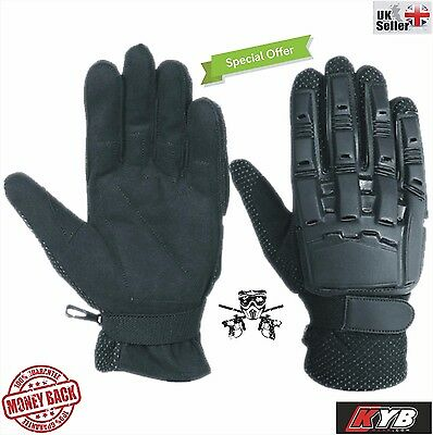Tactical Paintball Airsoft Gloves Armour Full Finger Motorcross BMX Paintballing