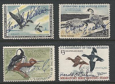 US Duck Stamps #RW30 RW31 RW35 RW36 Used Duck Stamps Total CV $41  L34