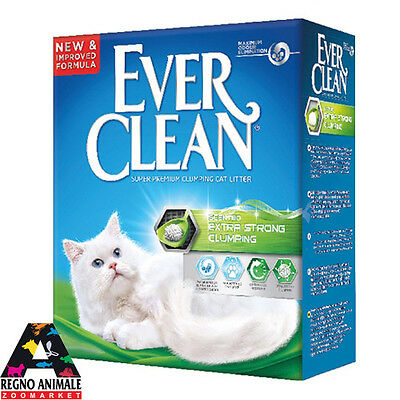 Sabbia Gatti Ever Clean Formato conveniente Extra Strong Scented 6 L Lettiera