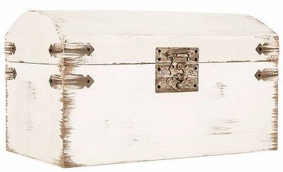 Antique White Wedding Card Box Shabby Chic, Simple and Elegant   (NO SALES TAX)