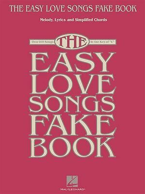 The Easy Love Songs Fake Book Learn to Play Beginner LYRICS CHORDS Music Book