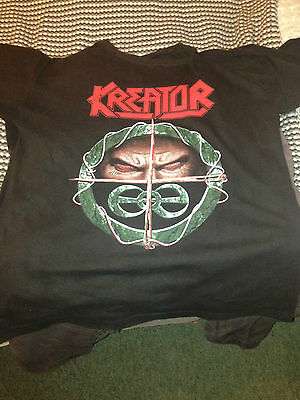 Kreator shirt 1990/sodom/sepultura/sadus/death/slayer/dark angel/tankard/coroner