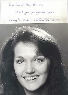 Doctor Who Louise Jameson (Leela)  signed photo and letter