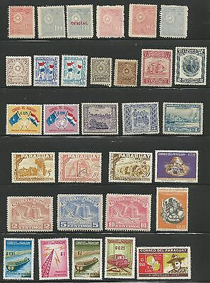 Paraguay Stamp Collection 70 MH Stamps Misc from 1913 on - SEE THREE SCANS  f62