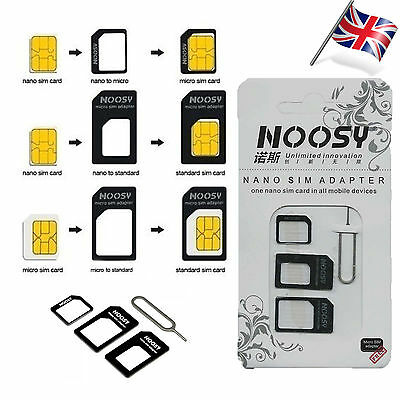 4 In 1 Pack Nano To Micro & Standard Sim Card Adaptor For Various Mobile Phones
