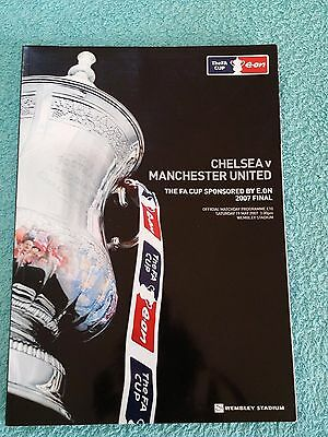 2007 - FA CUP FINAL PROGRAMME - CHELSEA v MANCHESTER UNITED - V.G CONDITION