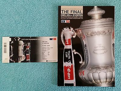 2009 - FA CUP FINAL PROGRAMME + MATCH TICKET - CHELSEA v EVERTON