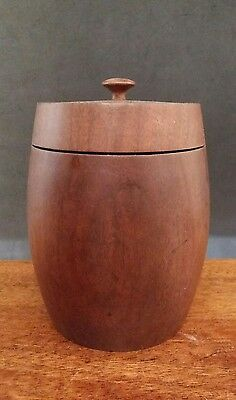 Beautiful Turned Wooden Lidded Pot