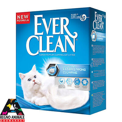 Sabbia Gatti Ever Clean Formato conveniente Extra Strong Unscented 6 L Lettiera
