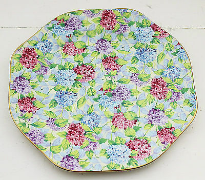 James Kent Old Foley Blue Hydrangea Chintz Floral Plate 1990s Reissue