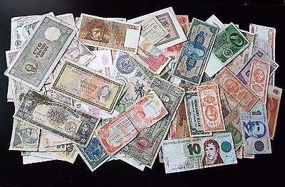 Antique Lot of 100+ Collection Mixed Banknotes (Lot#7)
