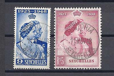 SEYCHELLES RSW 1948 SG152/3 USED Cat £48.60