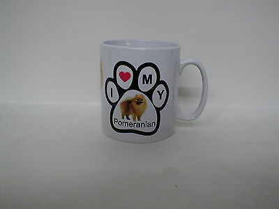 Pomeranian Photo / `i Love My Pomeranian` Paw Print Mug