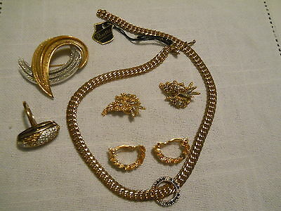 Vintage Panetta Lot 5 Signed Sterling Ring Necklace Brooch 2 Prs. Earrings