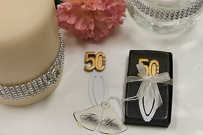 Bookmark Wedding Favours 50th Anniversary 25 ps