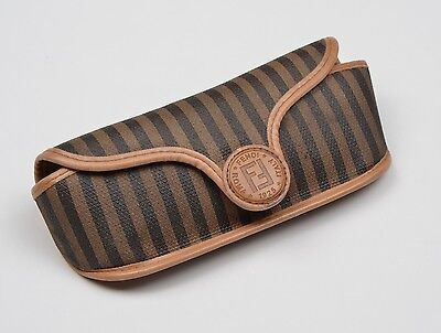 Vintage Fendi Sonnnenbrillen Etui Sunglass Case Streifen Stripes Made in Italy