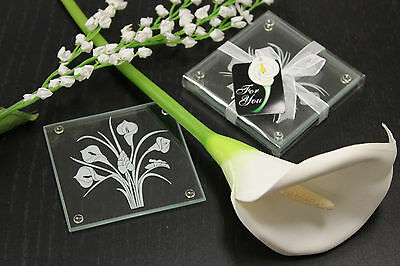 Wedding Favours Coaster Calla Lily Bouquet  60pk-120ps