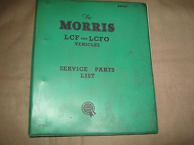 morris lcf and lcfo vans parts lists