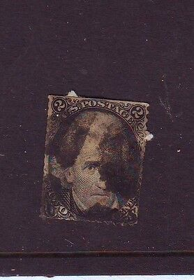 USA 1868 ? 2c Grill ?? Andrew Jackson Used Cancel ?