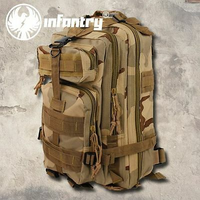 INFANTRY MOLLE Tactical Assault Army Backpack Military Rucksack Desert Camping