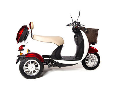 I2Sport (2-Person, 500 Lb. Capacity)  3 Wheel Mobility Scooter Hydraulic Brakes