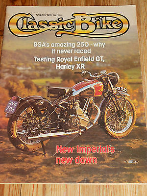 Classic Bike Magazine Apr/may 80, Harley Xr750,new Imperial,enfield Continental