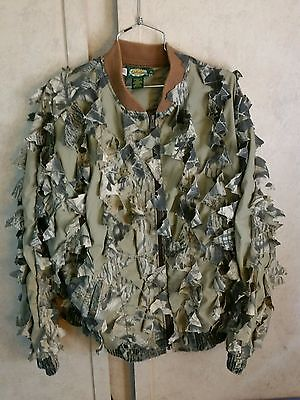 Rare USA made. Cabela's Real Tree Camo Ghillie Hunting 3D jacket Extra Large XL