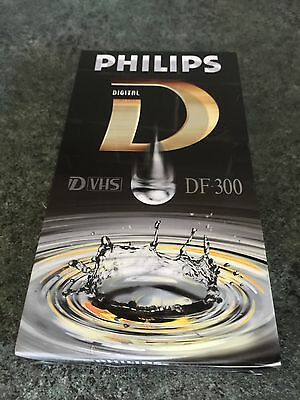 Philips DVHS Video Tape DF300 - D-VHS SVHS Digital VHS Cassette - New & Sealed